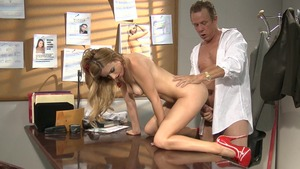 Stepmom Lexi Belle riding a dick in office