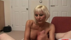 Big tits mature in her lingerie POV cumshot creampie HD