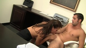 Nailing escorted by Rilynn Rae in office