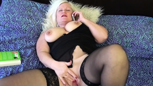 Big boobs Lacey Starr gagging in stockings