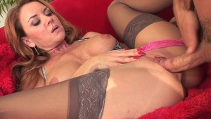 Janet Mason in panties blowjob