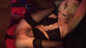 Luscious lesbian in her lingerie pussy licking