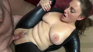 Black Cat plus Melanie Hicks sucking dick